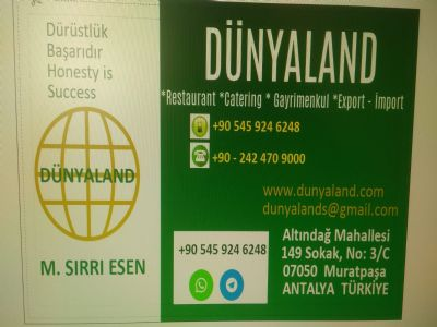 D�NYALAND FOOD, GASTRONOM�E CATER�NG, REALESTATE, EXPORT �MPORT, FRESH VEGATABLE