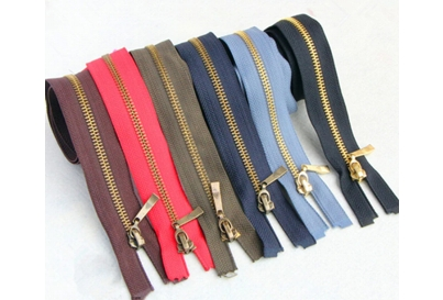 Y type brass zipper