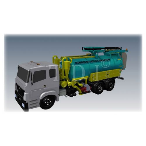 Combination Sewer Jetting and Vacuum Truck