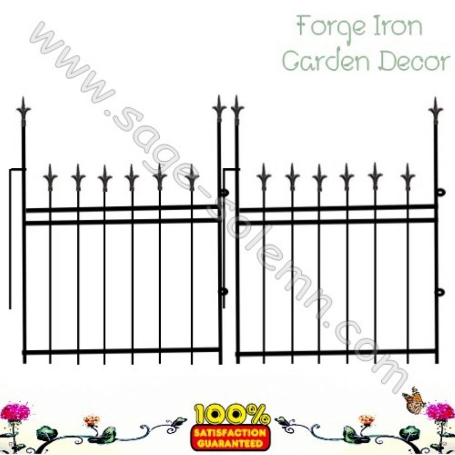 Wrought iron garden