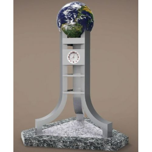 WORLD & CLOCK  MEMORIAL STATUE