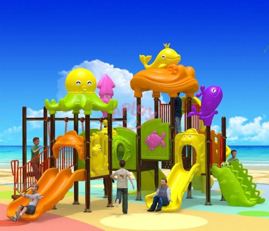 Children outdoor playhouse playground