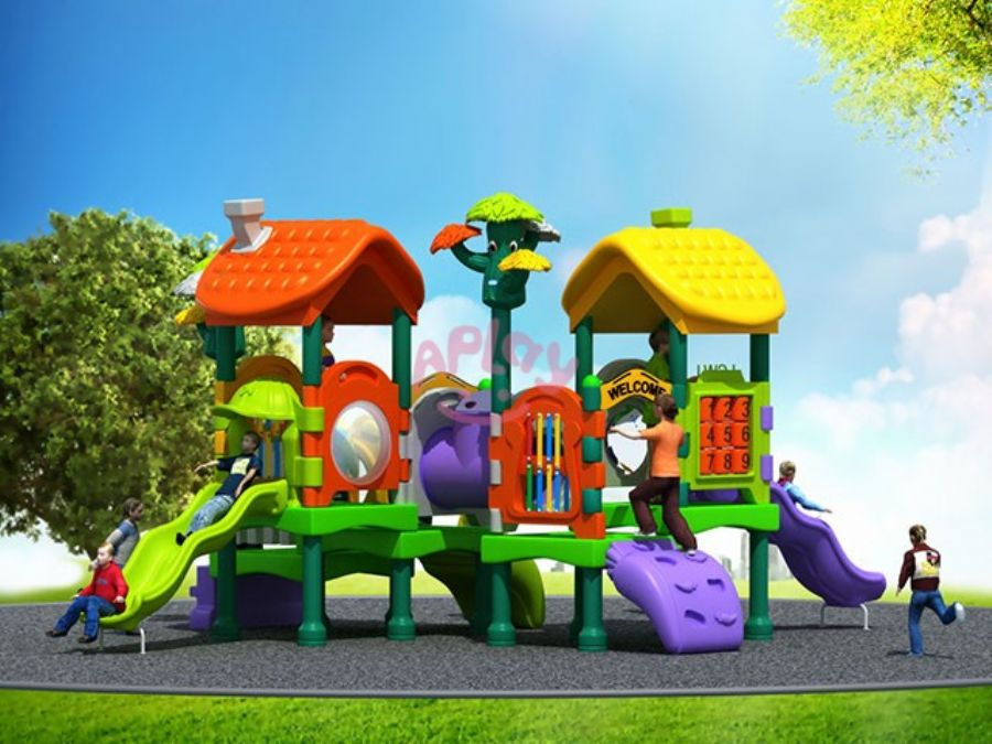 Preschool plastic children outdoor playground