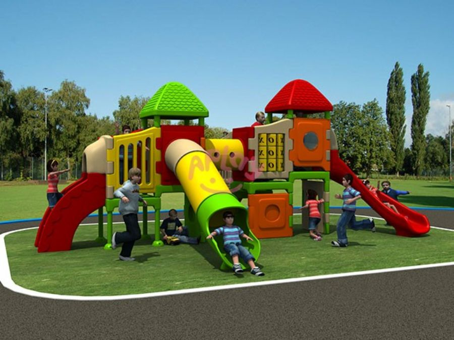 Children fun outdoor activities games playground