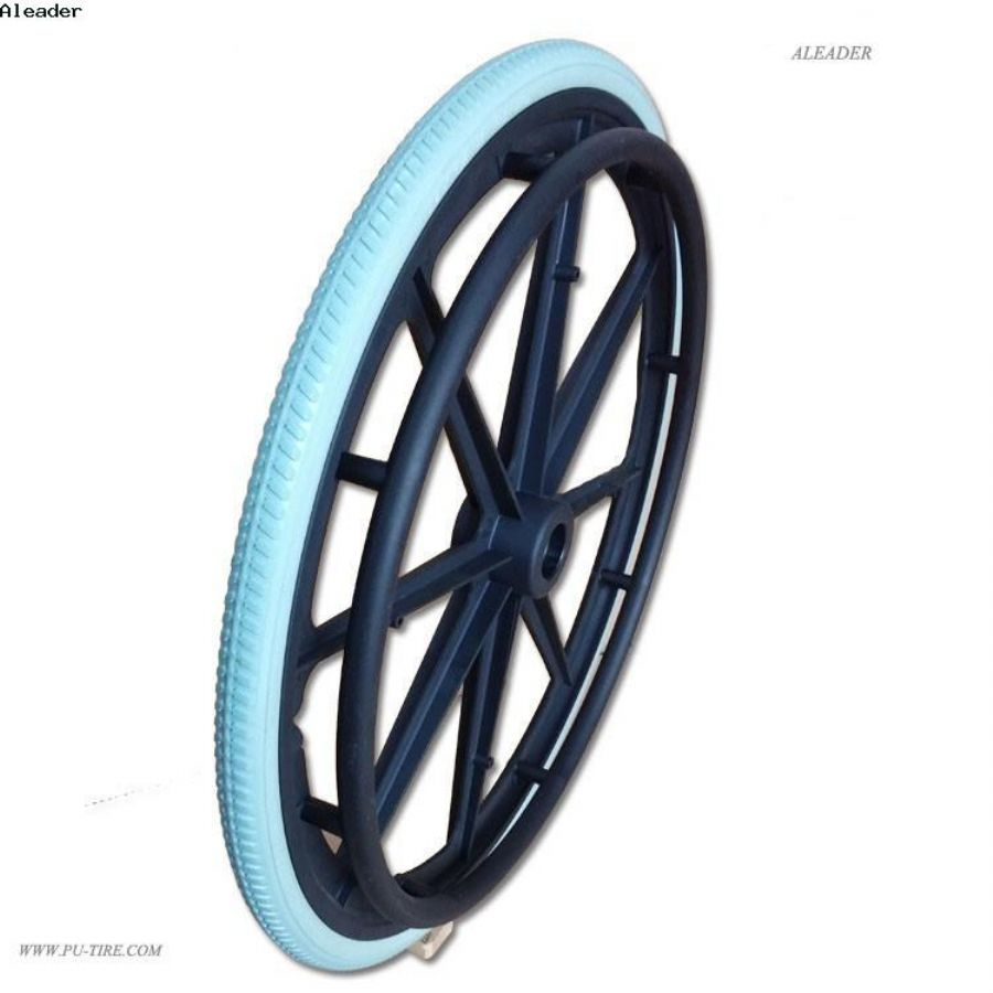 manual wheel chair pu solid tire