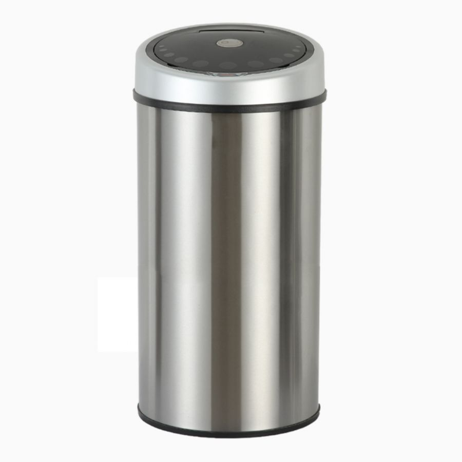 Round Shape Stainless Steel Automatic Motion Sensor Bin 50L Sale