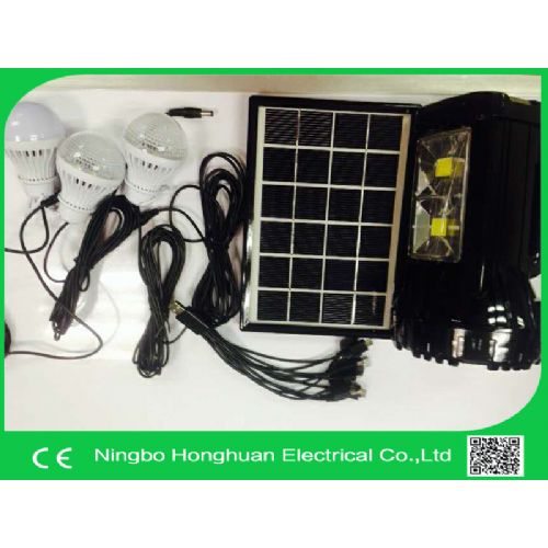 Solar lighting kit solar lighting system with mobile phone charger