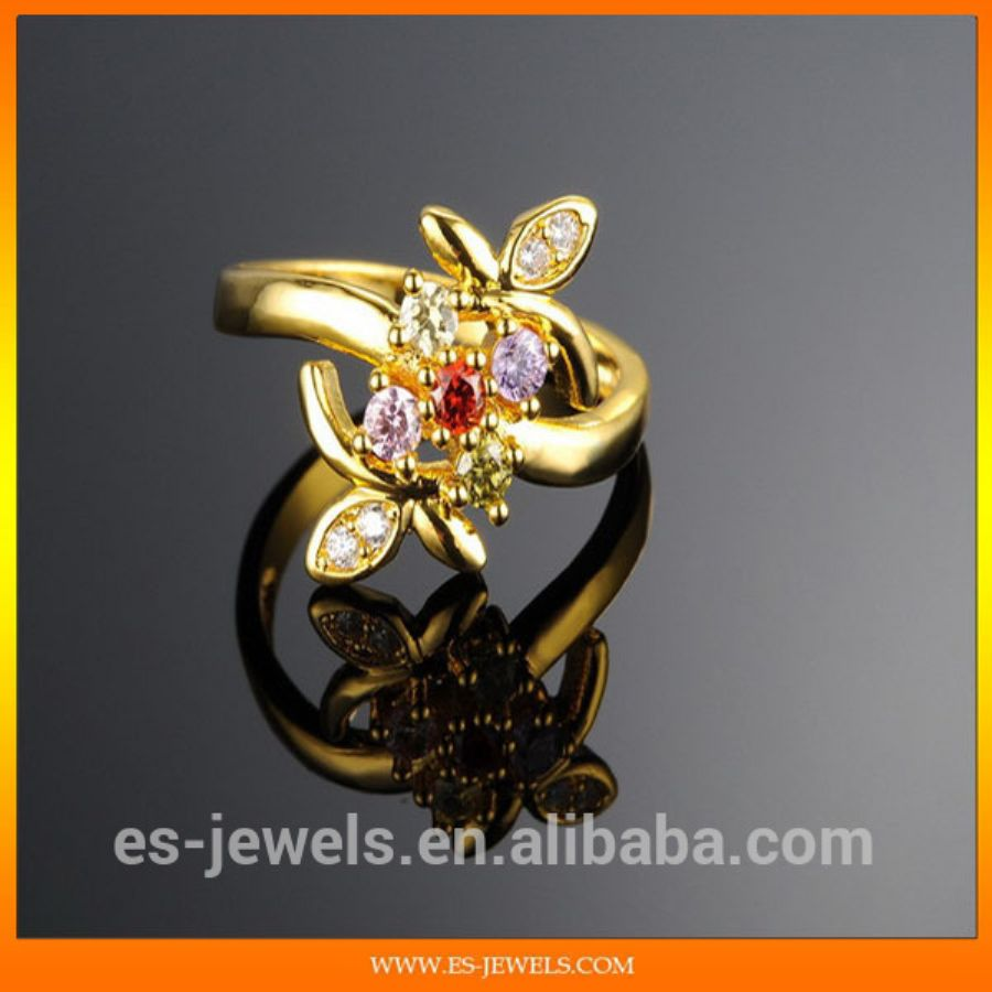 Jewelry Gold Rings With Diamonds Jewelry Gold Ring Gold Plated Fantasy Jewelry KJ018