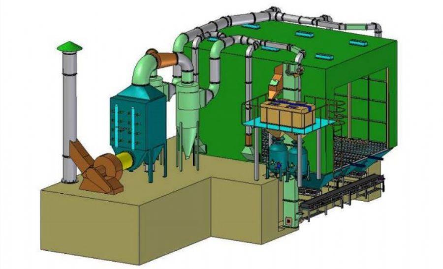 Environmental Sand Abrasive Blasting Room