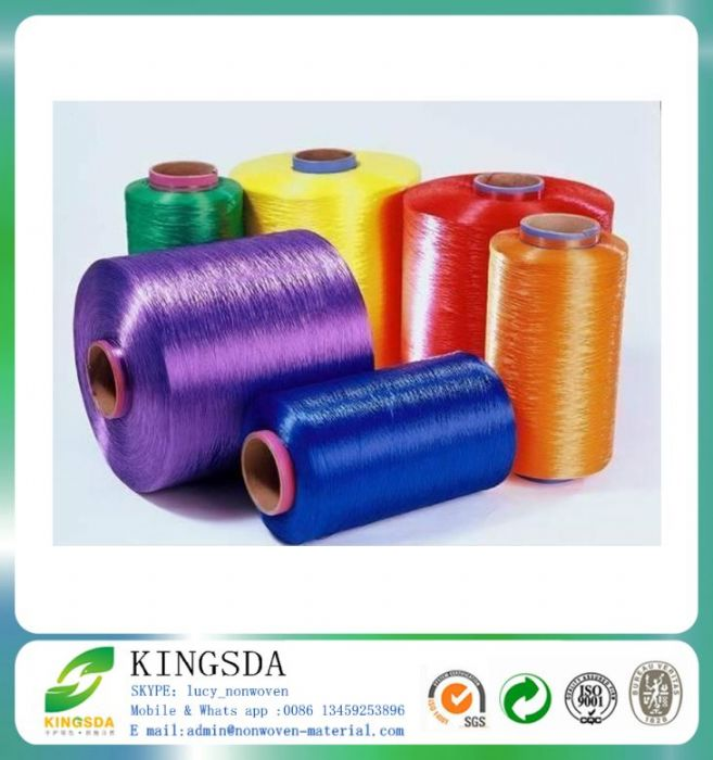 High Tenacity Dyed Polyester Label Yarn Twist DTY For Belt