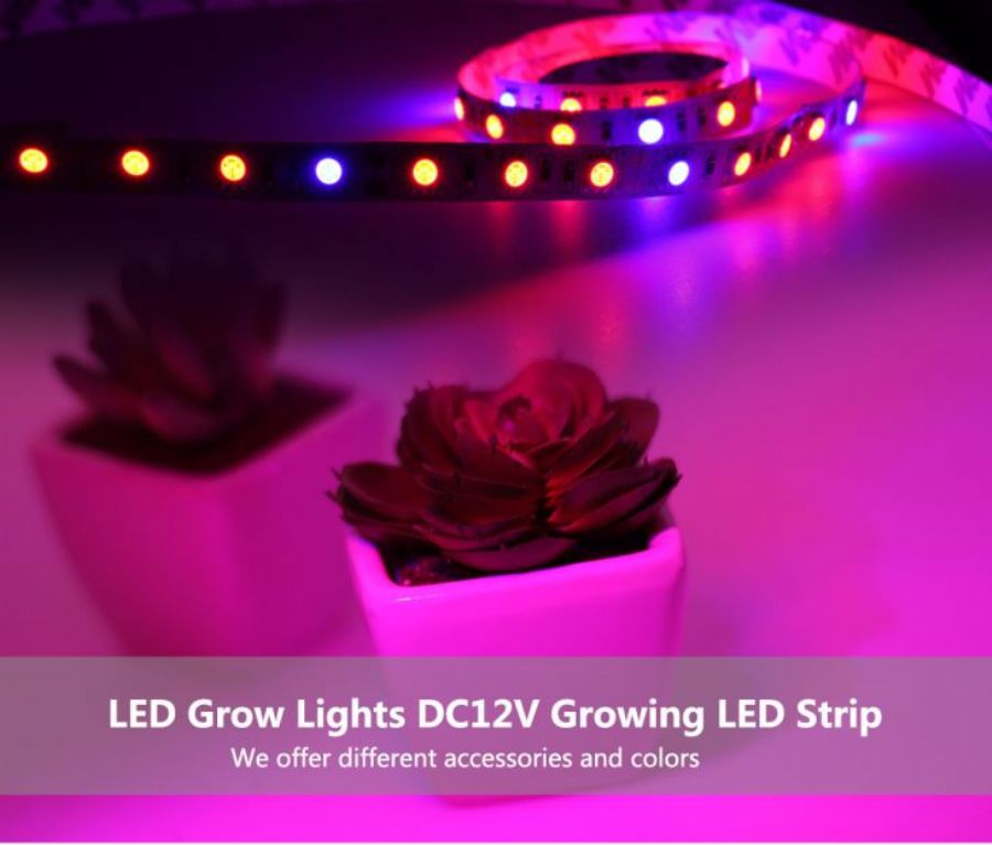 5730SMD High Brightness Flexible LED Grow Strips Light For Indoor Plants Vegetable