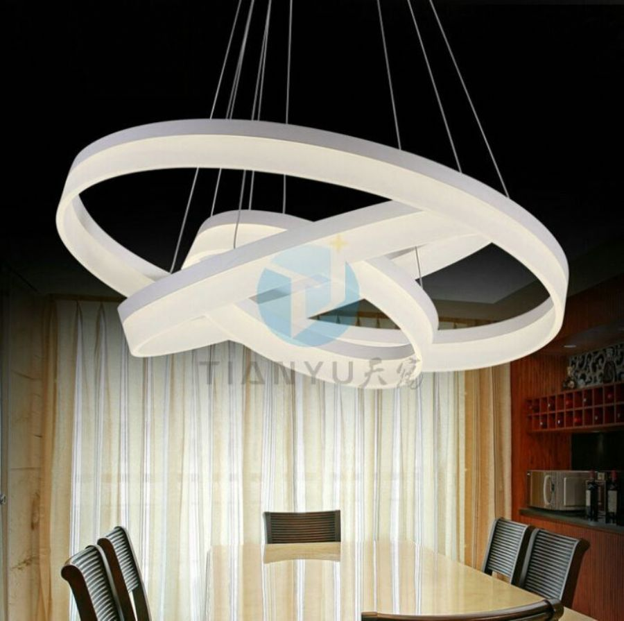 Round Square Combined Modern Office Hanging Light Fixtures