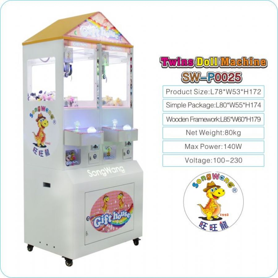 Song Wang Colorful Flash Plastic Tempered Glass Window Casino Turntable Gift Prize Machine