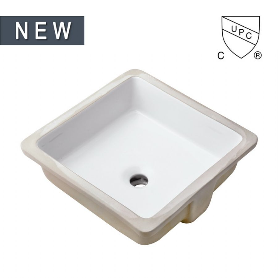 Small Rectangle Undermount Bathroom Ceramic Sink, SS-N1414