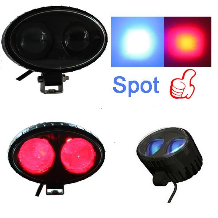 10V 12V 24V 48V 80V Pedestrian BLUE Or Red LED Forklift Safety Spot Light