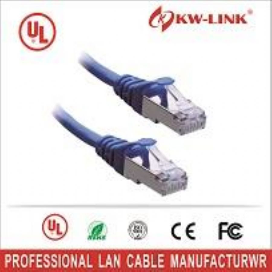 KW_LINK_8_Color_Combo,_Cat5e_Snagless_Ethernet_Patch_Cable_3_Feet