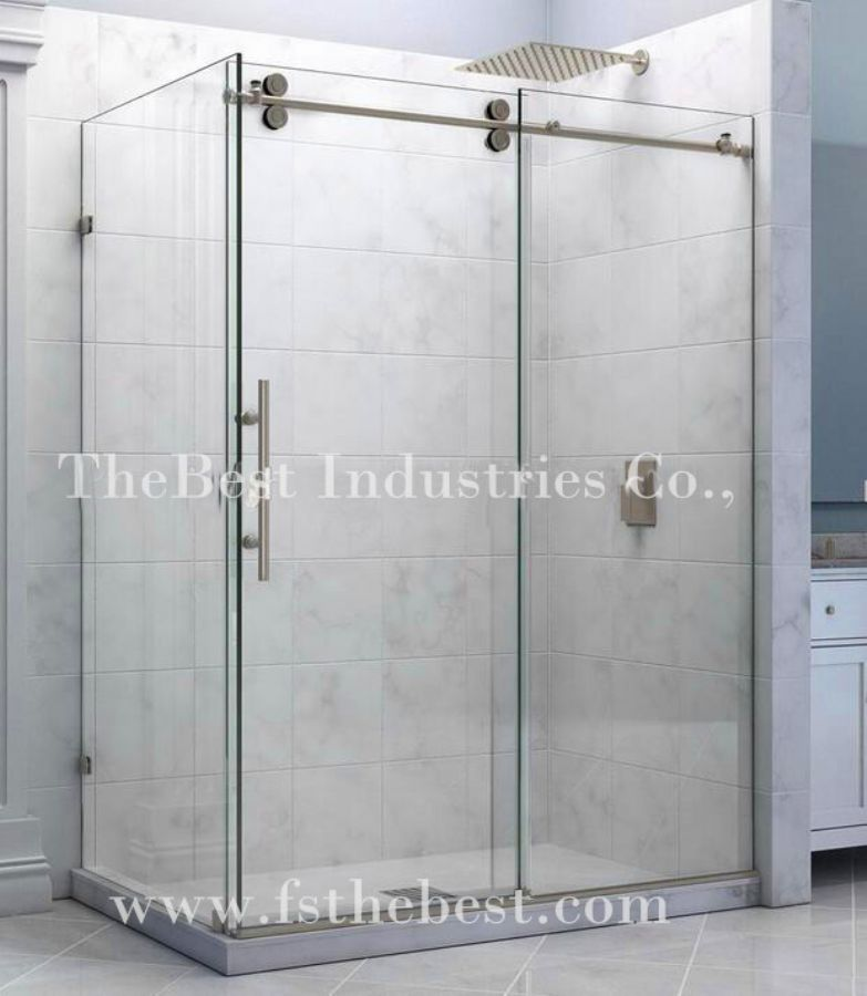Round Fully Framed Tempered Clarity Glass Easy Clean Quadrant Sliding Door Shower Enclosure