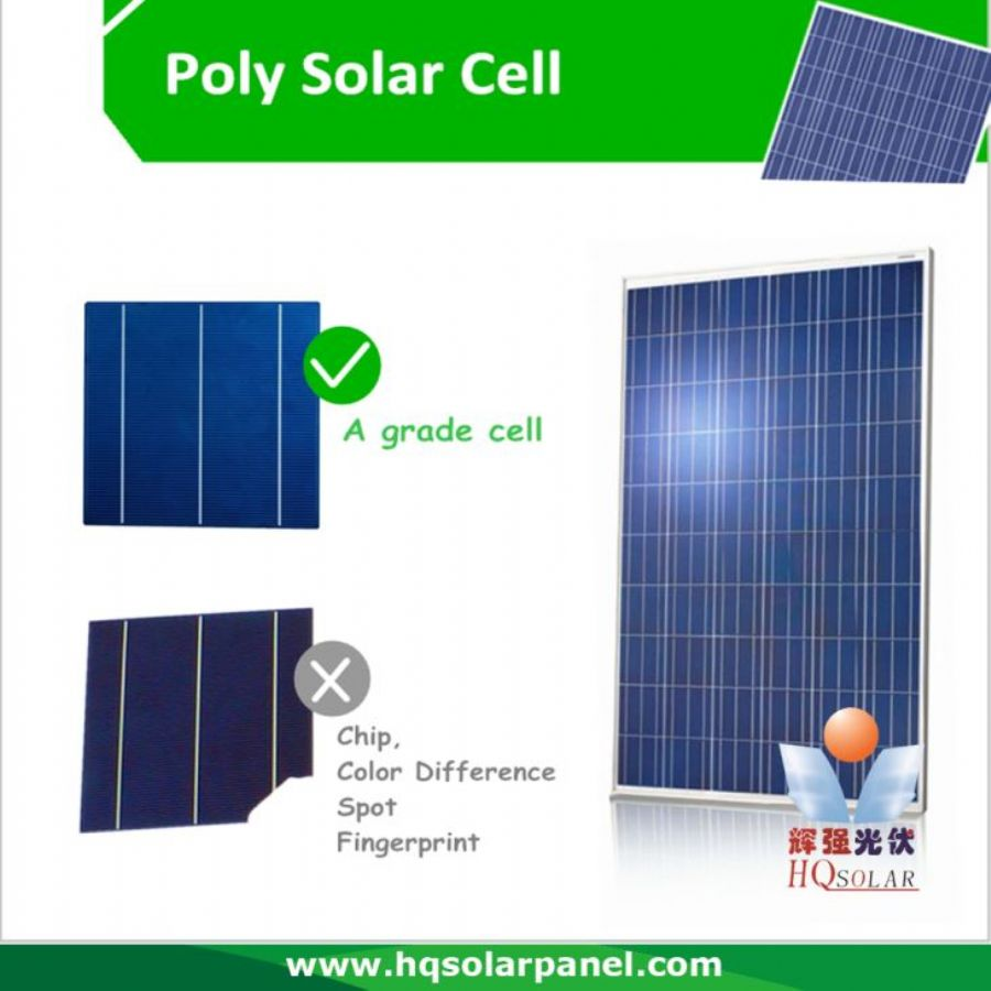 Best Outdoor Poly Solar Panel For Garden Solar Lights HQ300P 295w - 315w