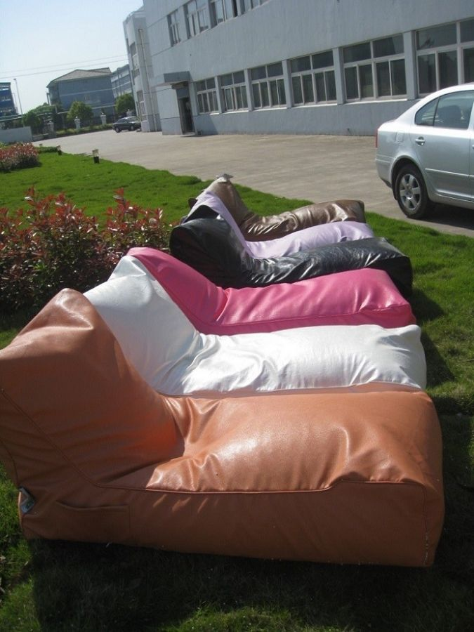 Folded Beanbag loung