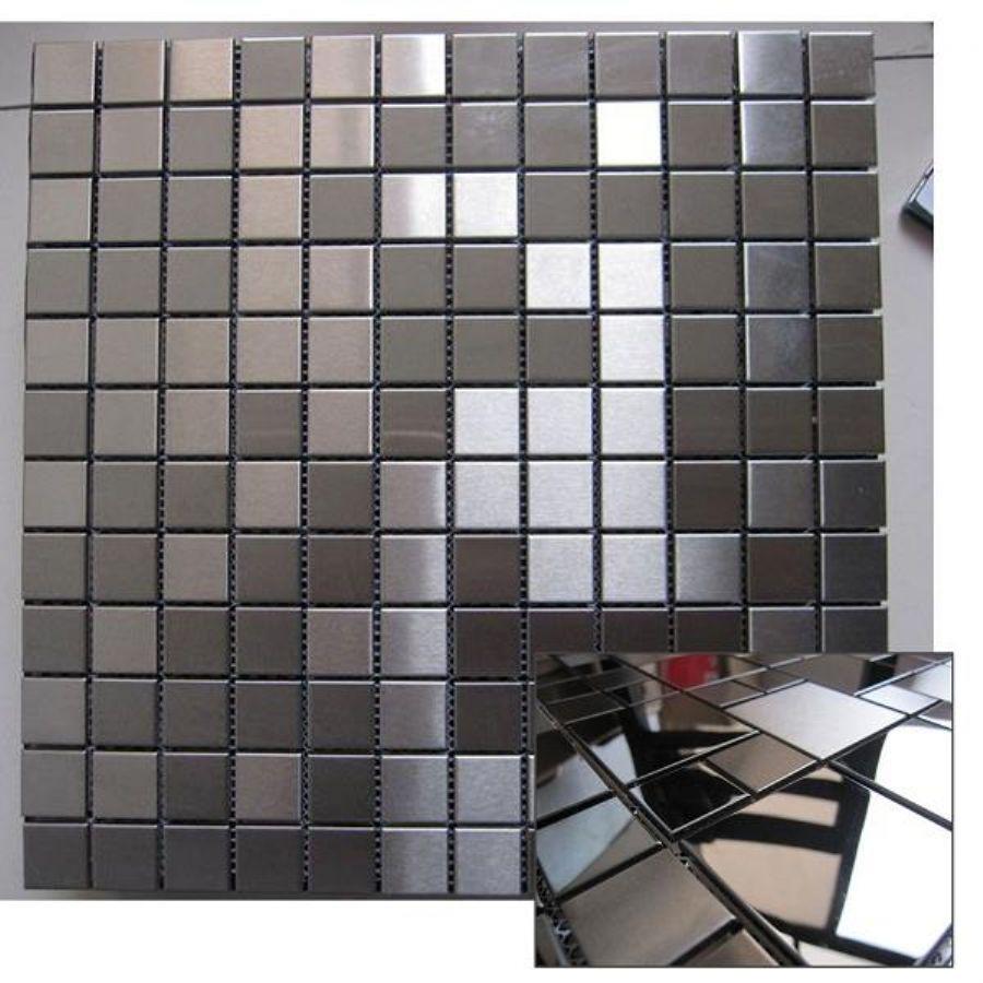 - metal Mixed Natural Marble Stone Mosaic Floor Tile