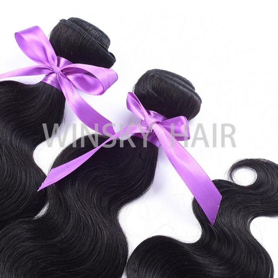 #1 Black 7A Unprocessed Virgin Brazilian Body Wave 3 Bundles Human Hair Extensions