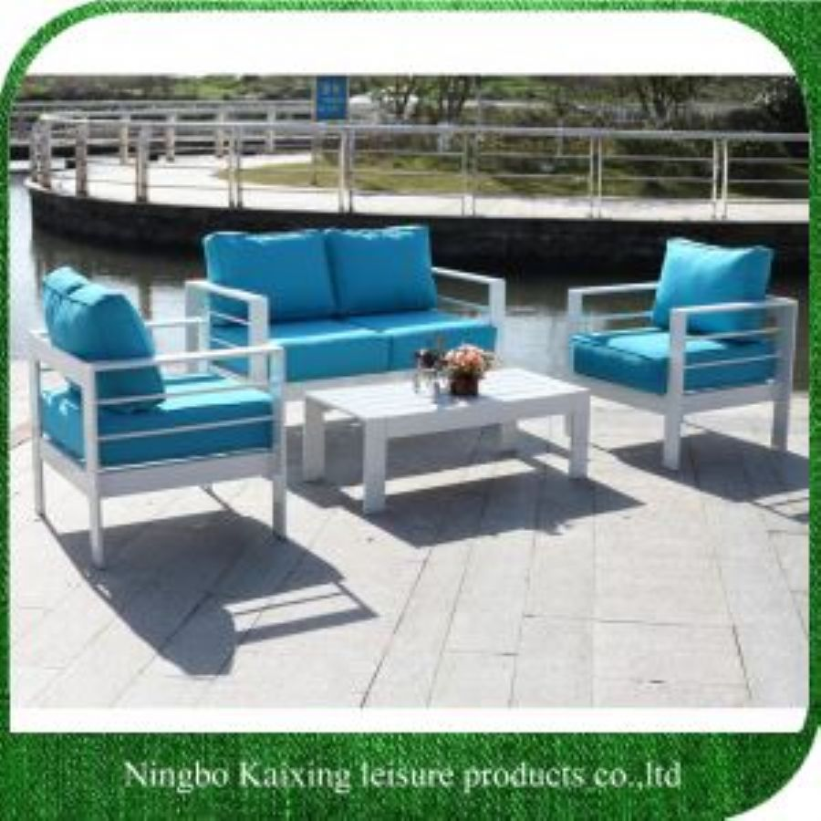 3 Pieces Patio Sofa Set, Aluminum Frame, Chinese Modern Design