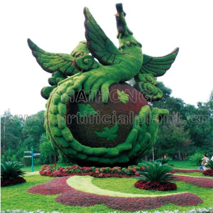 Artificial GRC Sculptures FRP Trees Plants Landscaping