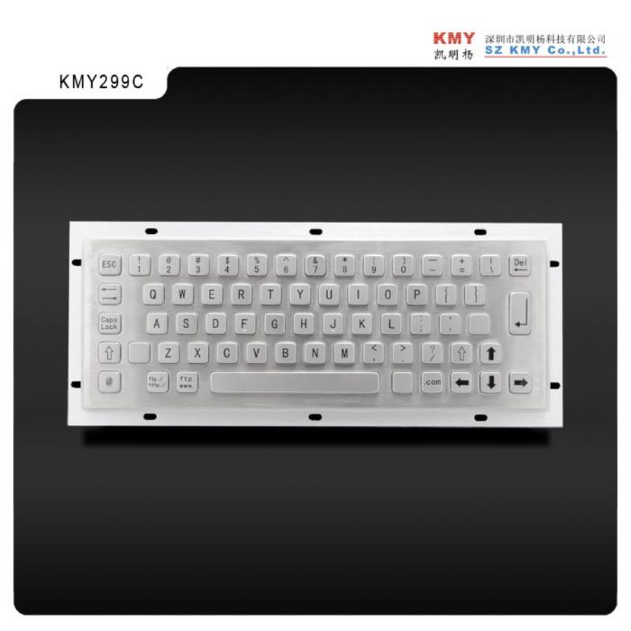 Rugged Waterproof IP65 Stainless Steel - metal Keyboard