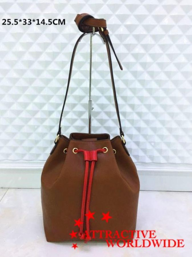 PU_Leather_Lady_Drawstring_Bucket_Bag_Purse