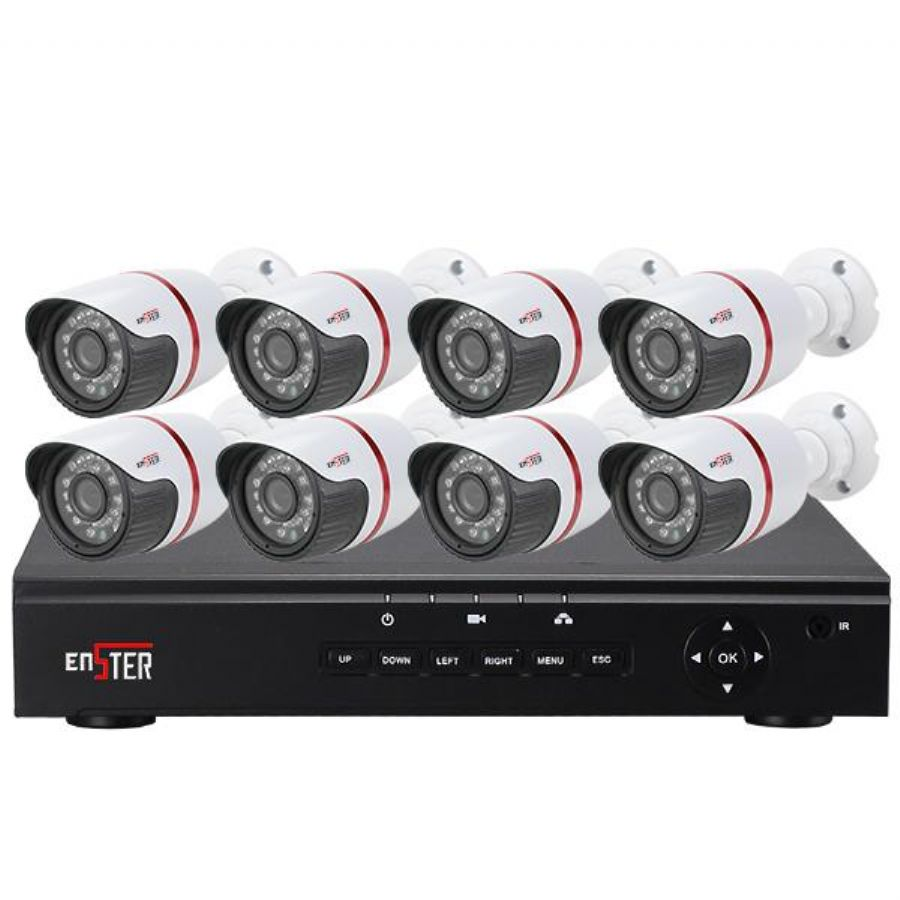 8ch IP NVR System 702P 960P 1080P CCTV IP Digital Security Monitoring Camera System For Watching