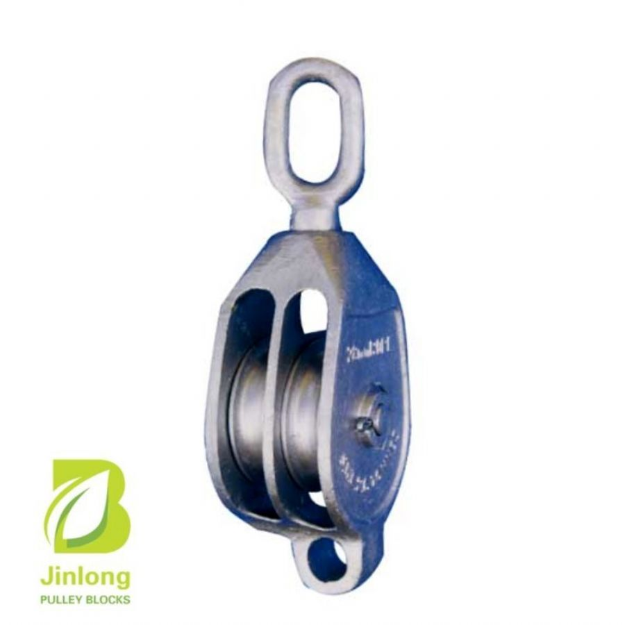 JL TACKLE BLOCK  DOUBLE WITH SWIVEL HOOK