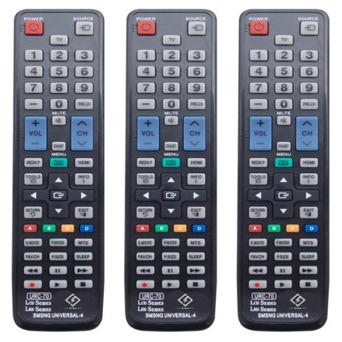 Urc-70/urc-122 Black Fresh Abs Lcd Universal Tv Remote Control Use For Lg Tv