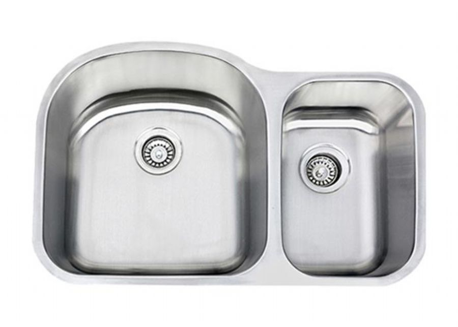 70/30 Undermount Double Bowl Stainless Steel Kitchen Sink for Granite Countertops, SS-3121L