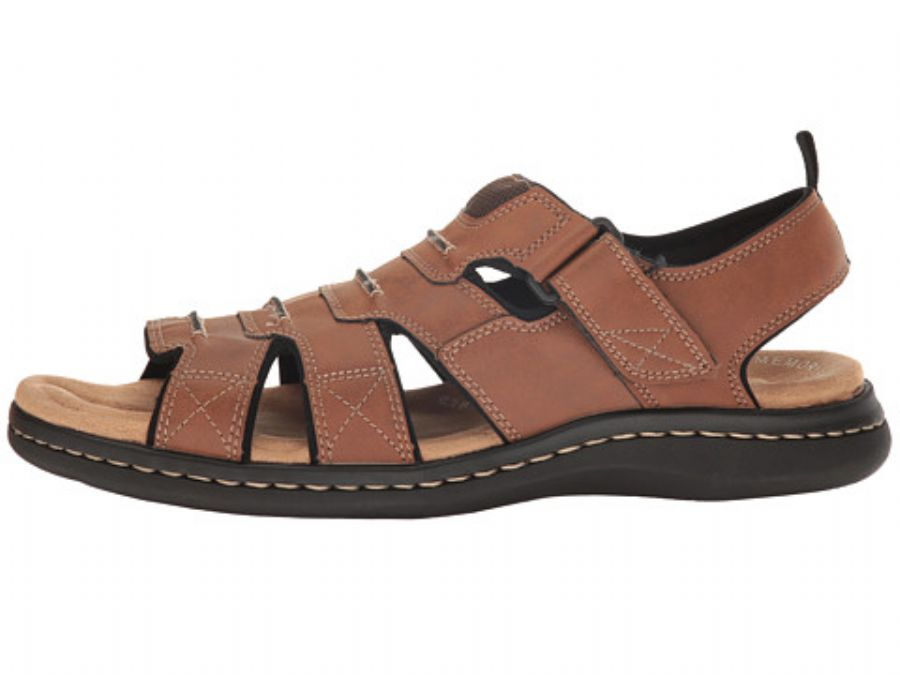 Mans Casual Leather Flat Sandals