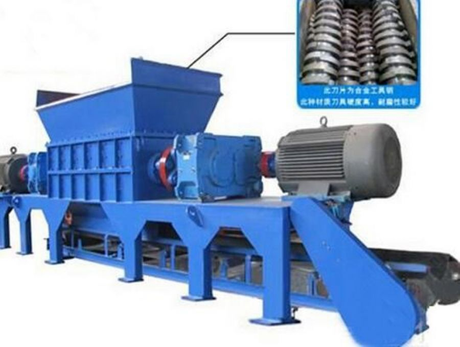 Automatic scrap tin cans shredding machine