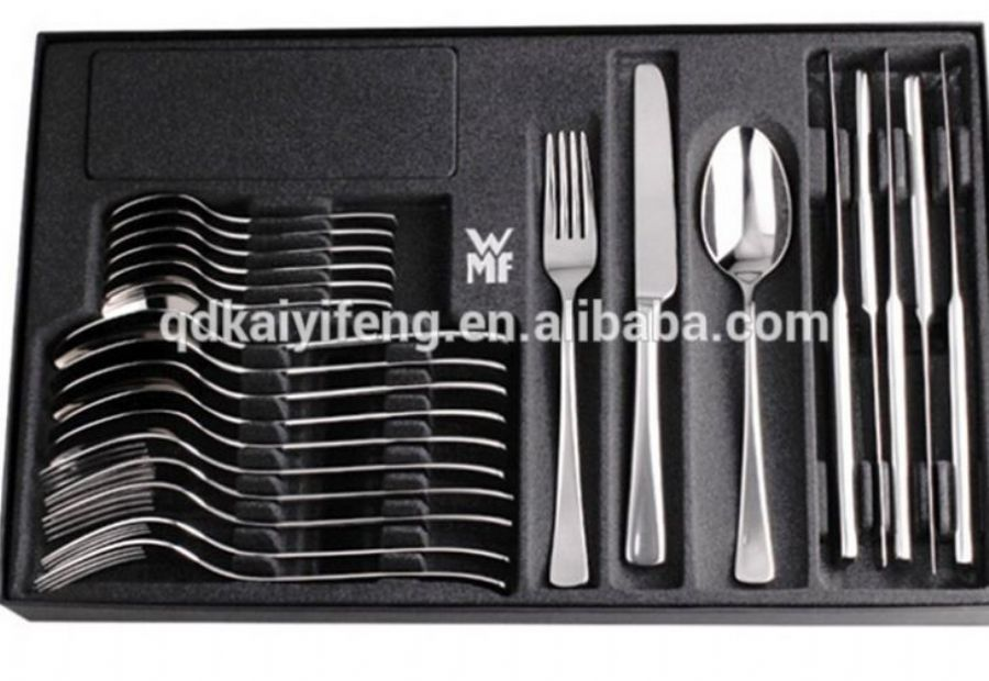 Black Tableware Tray/cutlery Tray With Velvet Plastic Tray