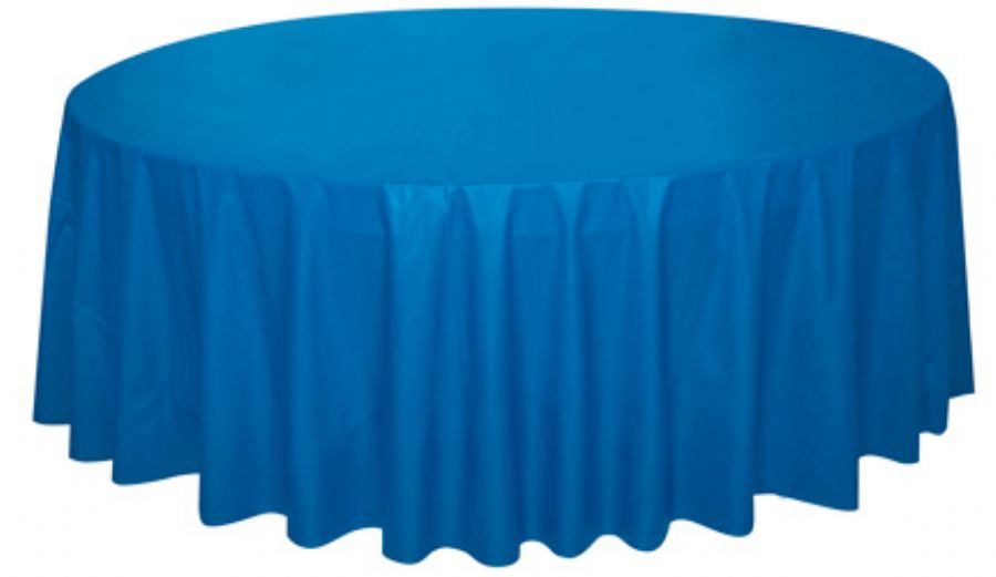 Party Supplies Plastic Round Tablecloth For Christmas Holiday
