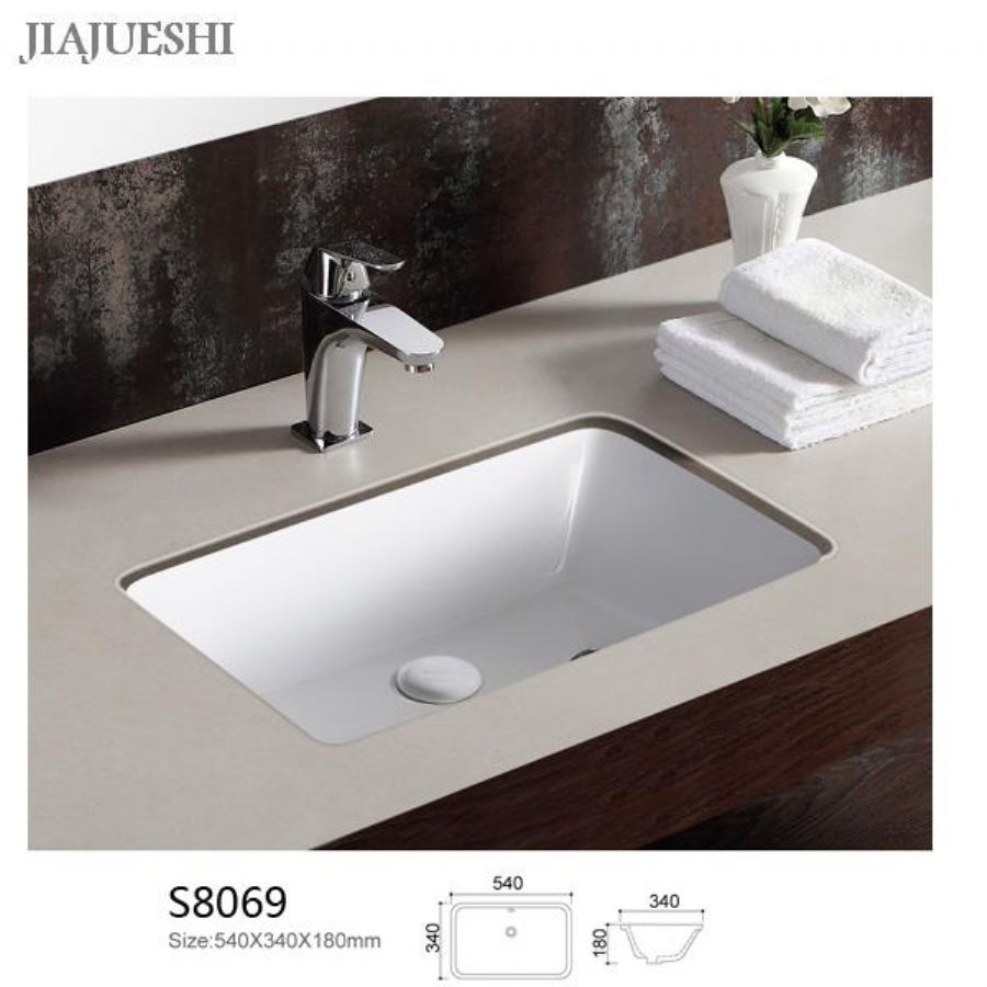 Slim Thin Rectangle Above Countertop Above Wash Basin Sink For Hotel Proejct