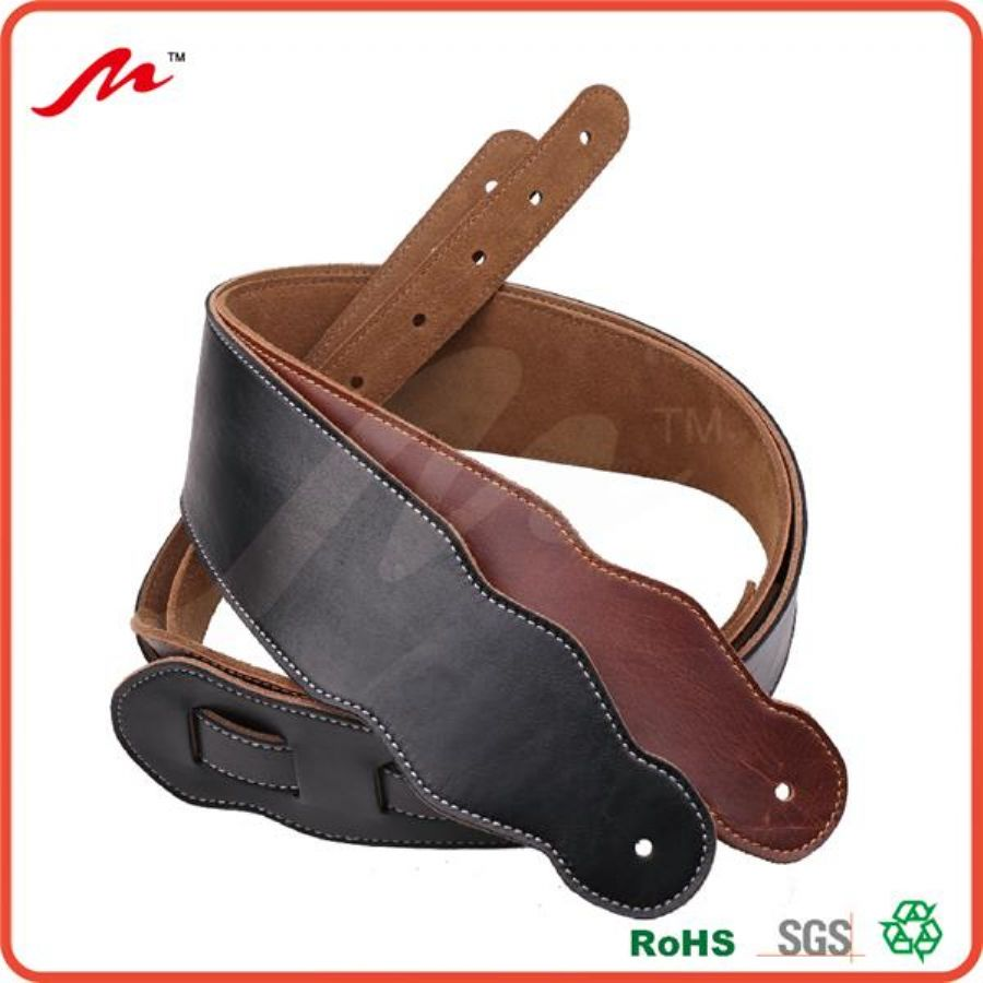 Melody_Black_Italian_Leather_Soft_Full_Grain_Guitar_Strap_Suede_Back