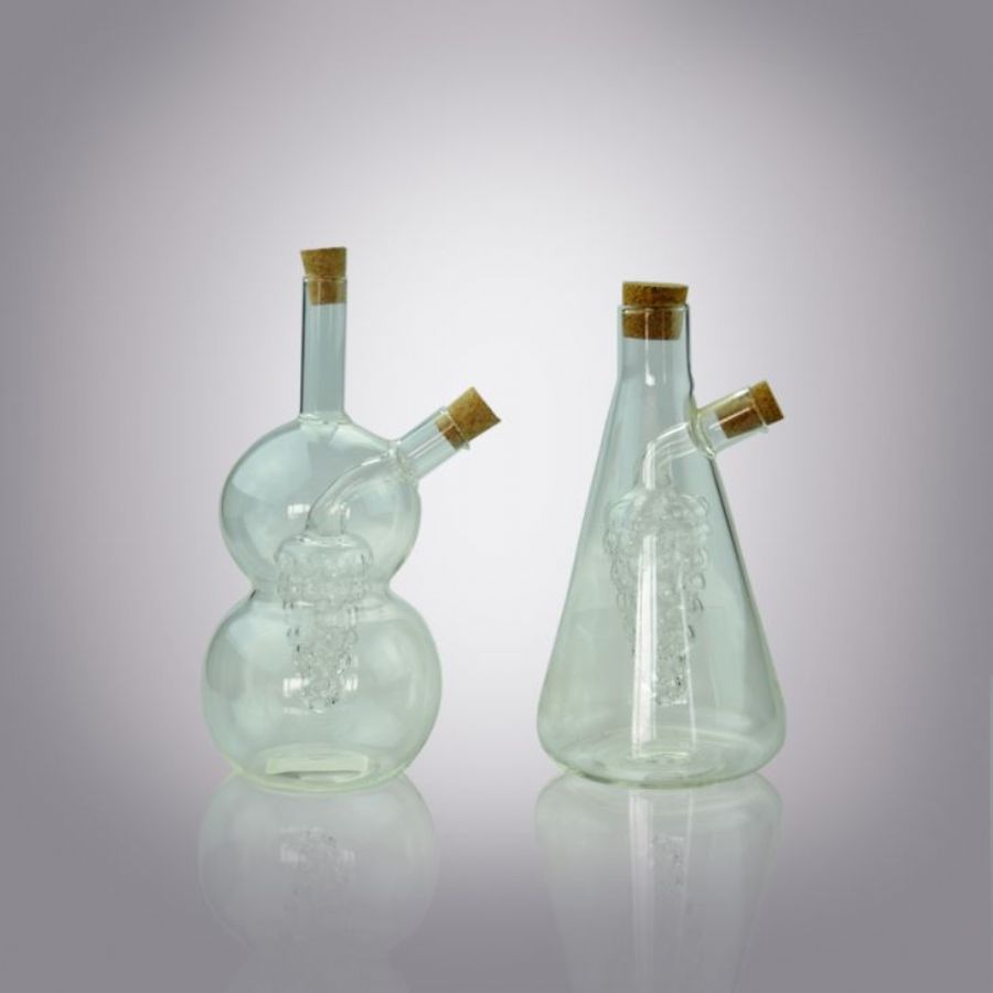 Clear Oil and Vinegar Glass Grape Cruet Suppliers