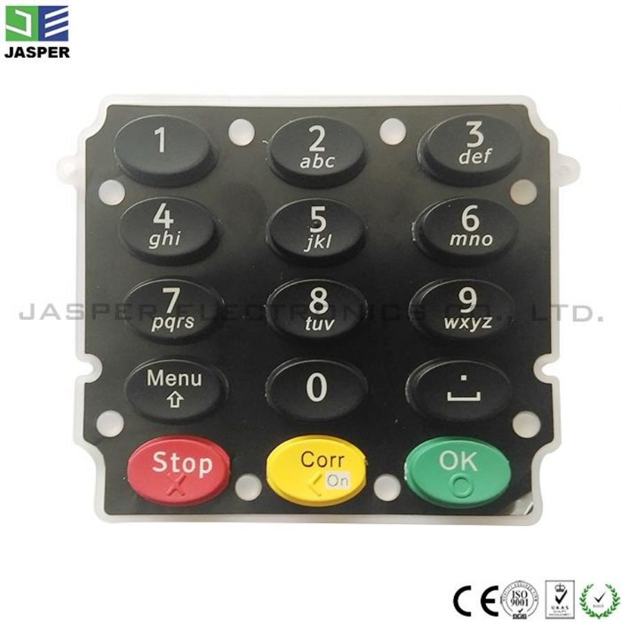 Custom Made Rubber Silicone Screen Printing Keypad