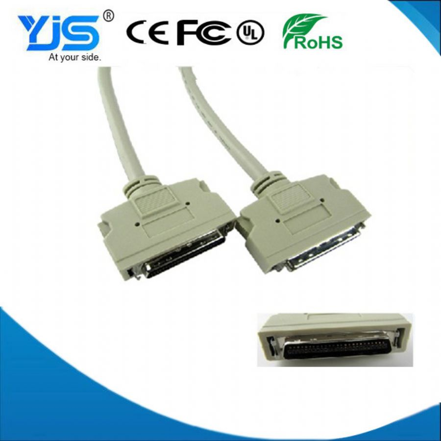 SCSI Connector DB50 CN50 - metal Hood Type With Screw Terminal Scsi Hard Drive Cable Exporter