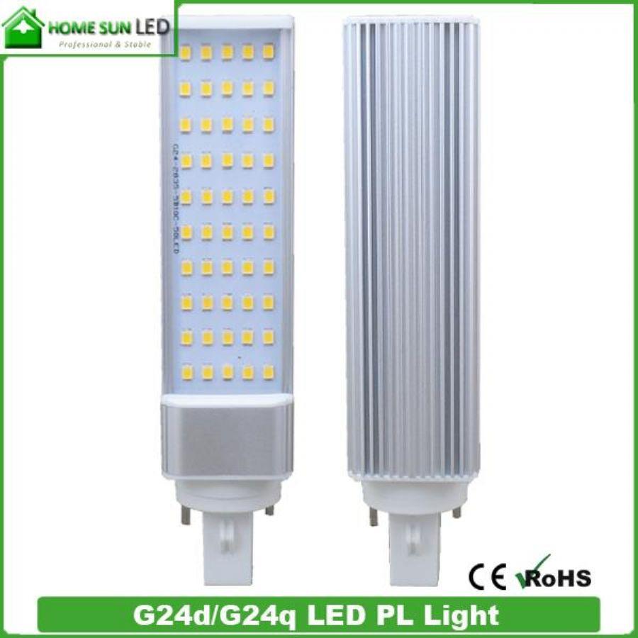 G24q G24d Led Bulbs Light 12W 80Ra 60 SMD 4500K Clear Cover