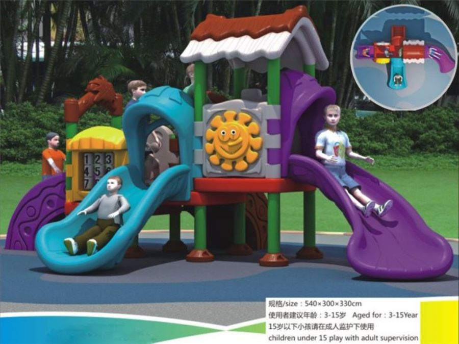 Kids Plastic Outdoor Playground Equipment Amusement Park Equipment Outside For Children