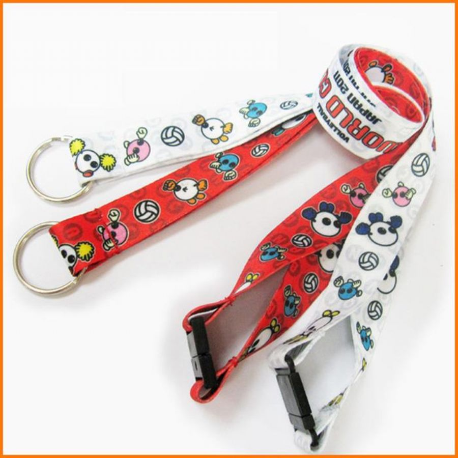 Sublimation Fashion Colorful Logo Polyester Neck Strap