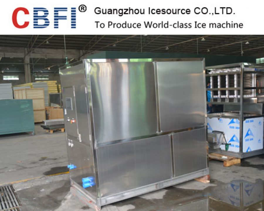 2 Tons Stainless Steel Commercial Used Square Cube Ice Maker For Food Grade Plant