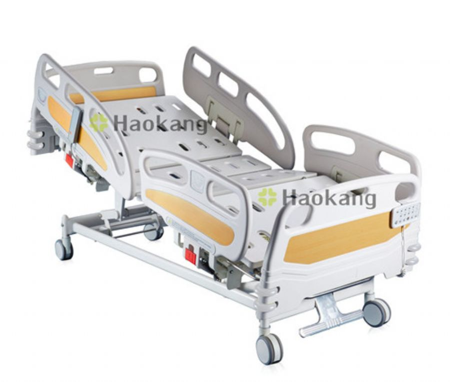 Deluxe Extendable Five Functions Electric ICU Beds With ACP,UPS,CPR And LED Night Light