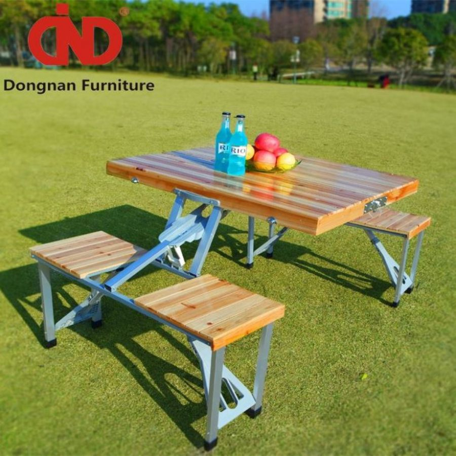 DN Folding Commercial Wooden Picnic Tables For Sale,Cheap Patio&Outdoor Furniture,Garden Table And 4