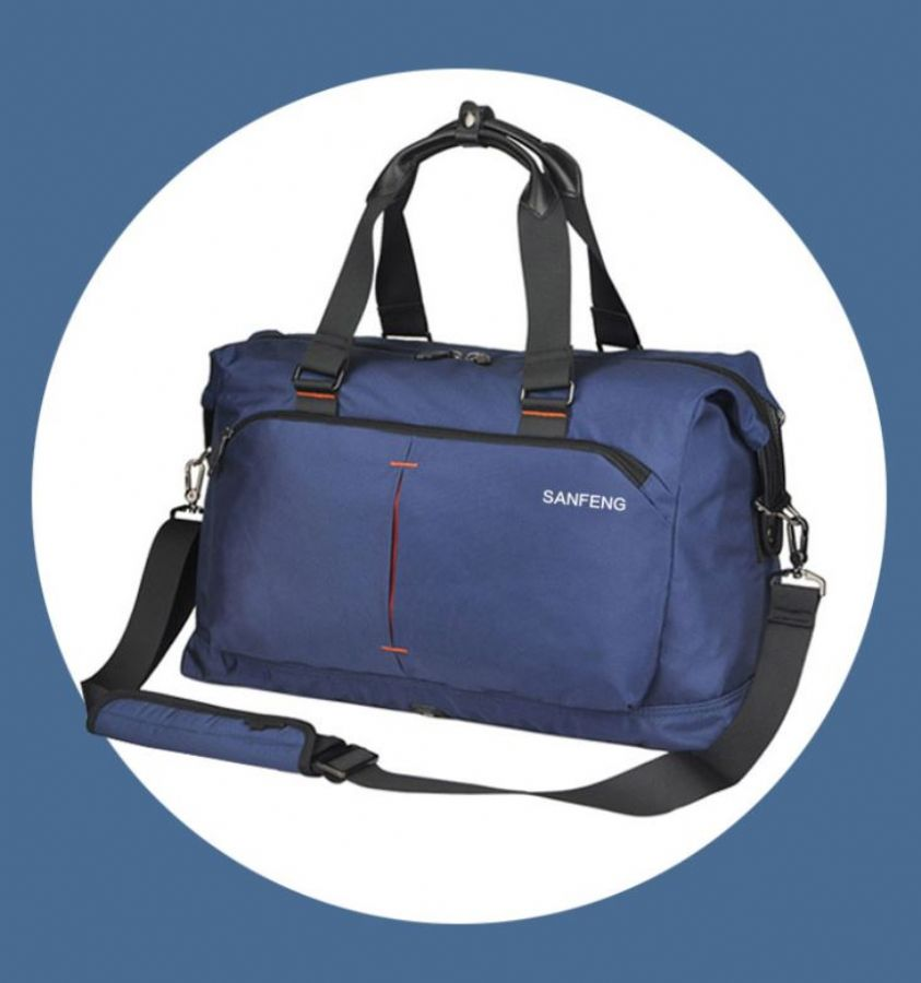 Waterproof_Large_Blue_Mens_Holdall_Weekend_Duffle_Bags_For_Travel_With_Multiple_Pockets