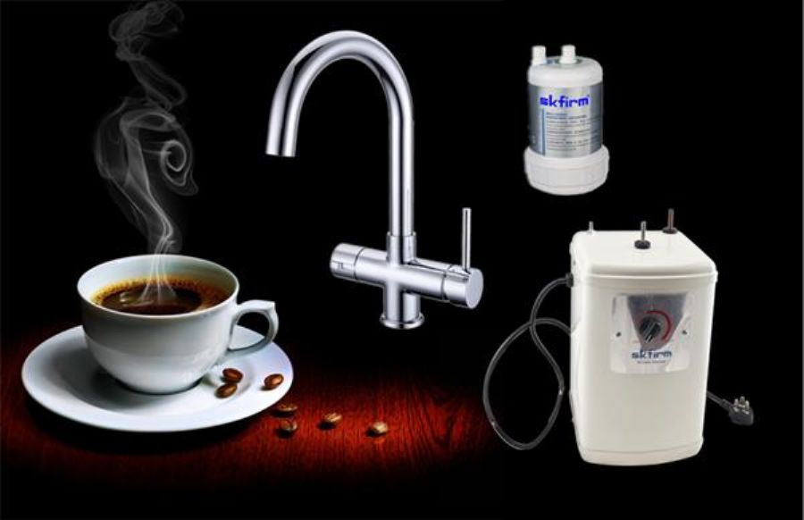 Water Heating Tap Flow Instant Hot And Cold Filtered Water In Kitchen